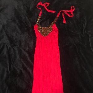 Crimson Red Dress